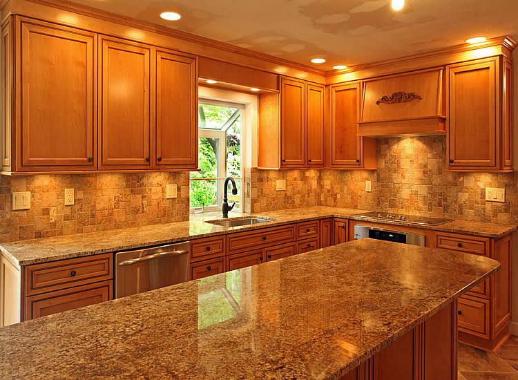 Kitchen Counter Ideas Adorable Of Kitchen Countertop Ideas with Oak Cabinets Pictures